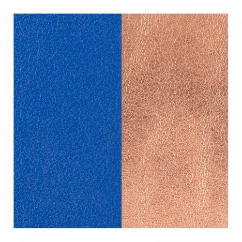 Cuir reversible les Georgettes bleu outremer / rose sirène