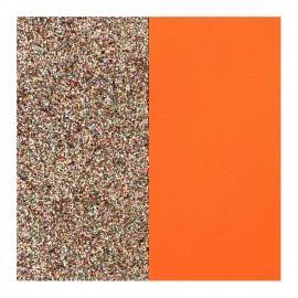 Cuir reversible les Georgettes paillettes multicolores / tangerine