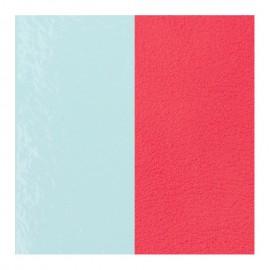 Cuir reversible les Georgettes vernis bleu clair / grenadine