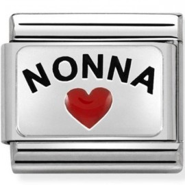 Maillon Nomination classic Argent coeur nonna