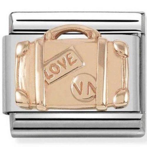 Maillon Nomination classic relief valise de voyage