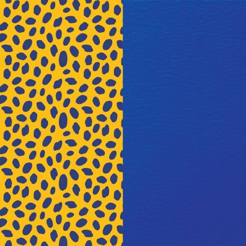 Cuir reversible les Georgettes guepard / bleu outremer