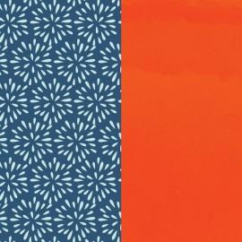 Cuir reversible les Georgettes plumetis / orange vernis