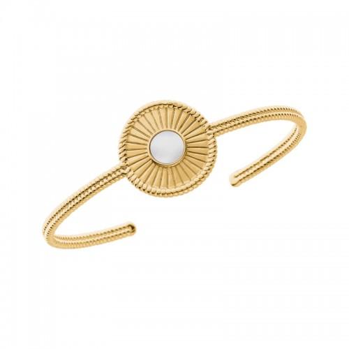 Bracelet jonc Saunier Talisman en Plaqué Or