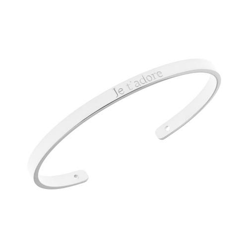 Bracelet Je T'adore Jonc Saunier personnalisé Argent