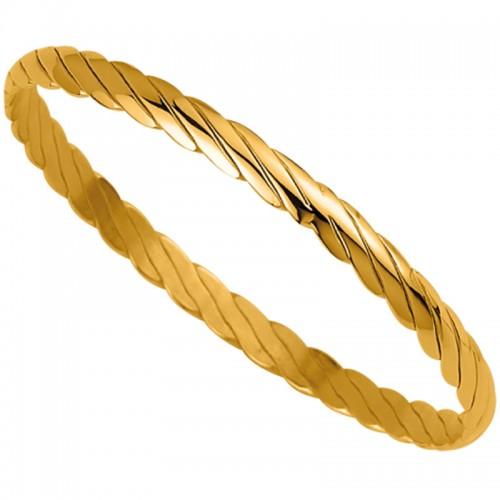 Bracelet femme torsadé Jonc Plaqué Or