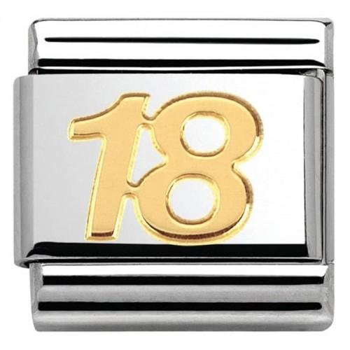 Maillon Nomination classic nombre dix-huit