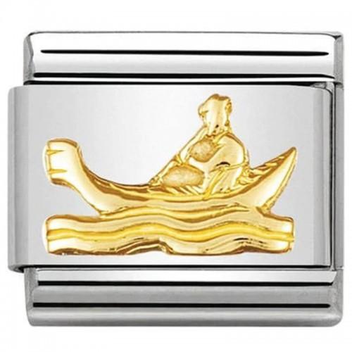 Maillon Nomination classic gondole symbole de la ville de Venise en Or