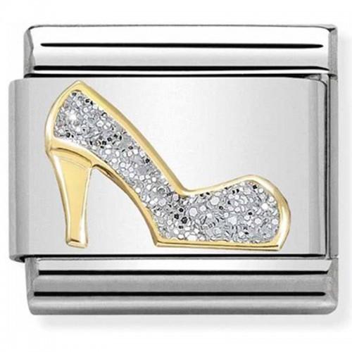 Maillon Nomination classic chaussure à talon glitter et Or