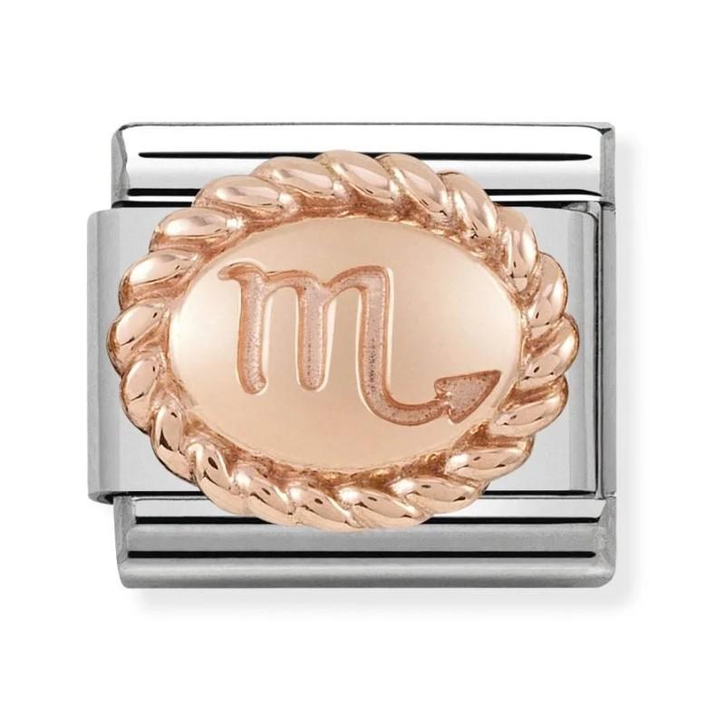 Maillon Nomination classic signe du Scorpion en Or rose