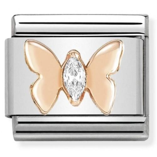 Maillon Nomination classic Papillon en Or rose