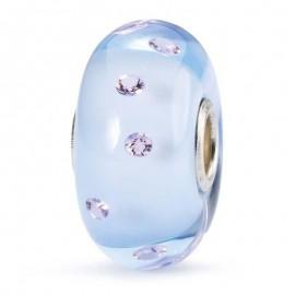 Perle en verre Couleur Douce Bleu pastel Amour Sincère Trollbeads