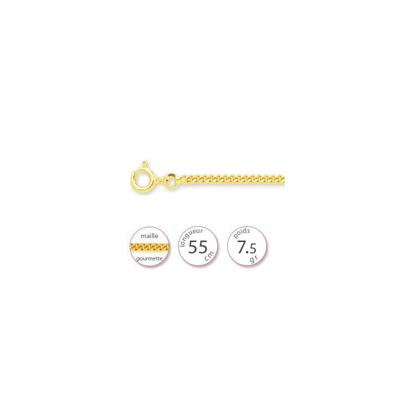 Chaine gourmette en Or - 001498