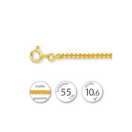 Chaine gourmette en Or - 001508