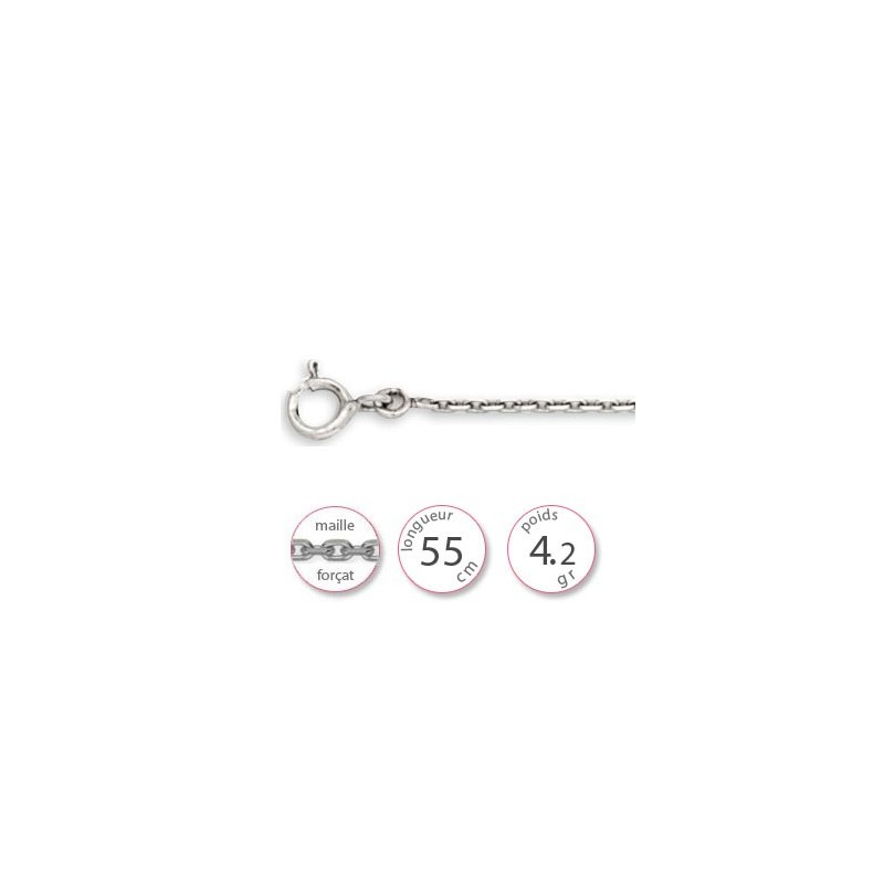 Chaine Or blanc forçat - 001773