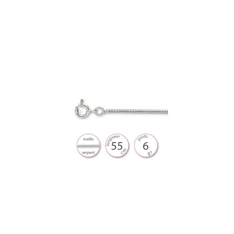 Collier Or blanc - 001834