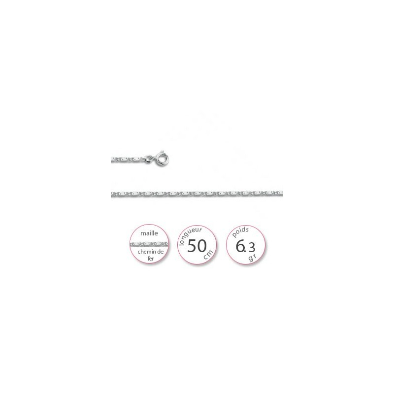 Chaine argent homme - 001889