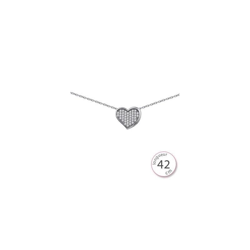Collier coeur femme - 002063