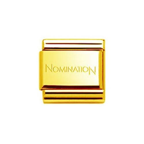 Maillon Nomination classic doré